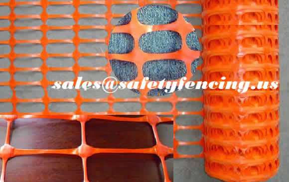 Orange Plastic Safety Warning Barrier Fence Made of Extruded PVC Nets